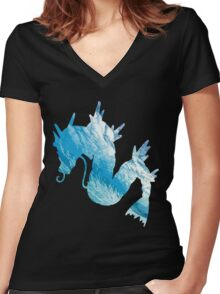 Gyrados used surf Women's Fitted V-Neck T-Shirt