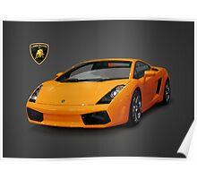 Orange Lamborghini Gallardo 2003 Poster