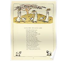 Marigold Garden Pictures and Rhymes Kate Grenaway 1900 0045 Little Girls and Little Lambs Poster