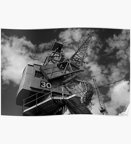 Dockside crane, Bristol waterfront Poster