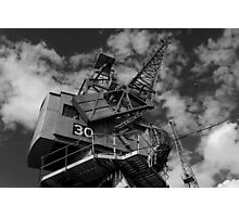 Dockside crane, Bristol waterfront Photographic Print