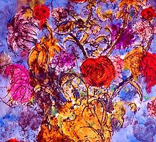 Flower Monoprint. by Richard  Tuvey