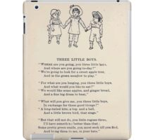 Miniature Under the Window Pictures & Rhymes for Children Kate Greenaway 1880 0028 Three Little Boys iPad Case/Skin