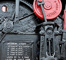 Detail on steam crane, Gloucester Docks by buttonpresser