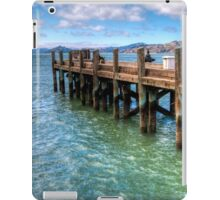 The Old Alcatraz Dock that laid upon the Blue Waters iPad Case/Skin