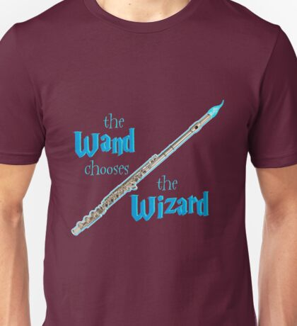 The Flute Chooses the Wizard Unisex T-Shirt