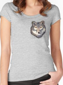 Wolf Pocket Tee Women's Fitted Scoop T-Shirt