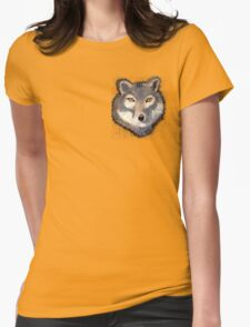 Wolf Pocket Tee Womens Fitted T-Shirt
