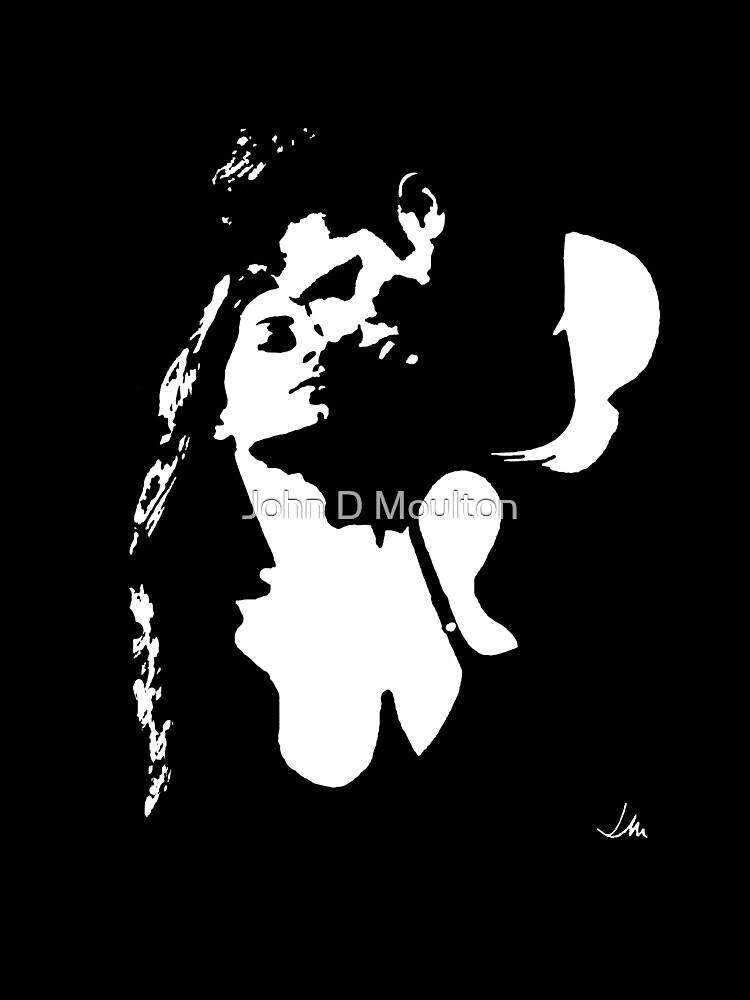 """Lovers"" Moonlight Cameo Art by John D Moulton"