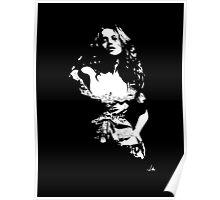 """Jess"" Moonlight Cameo Art Poster"