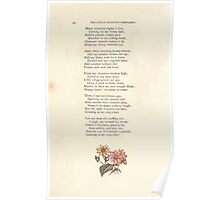 LIttle Ann and Other Poems by Jane and Ann Taylor art Kate Greenaway 1883 0038 Flowers Poster