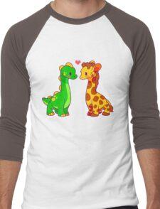 Dinosaur x Giraffe Men's Baseball ¾ T-Shirt