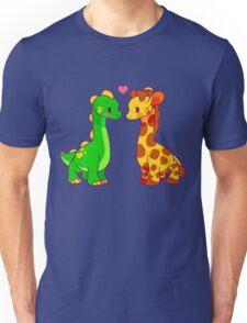 Dinosaur x Giraffe Unisex T-Shirt