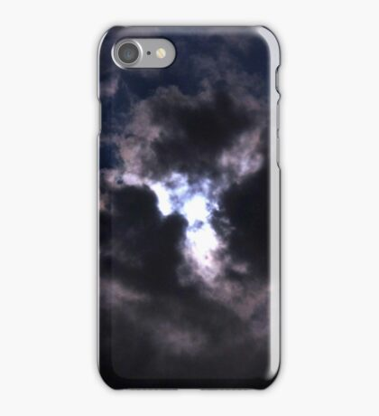 Moon Lite Clouds iPhone Case/Skin