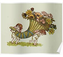 Language of Flowers Kate Greenaway 1884 0006 Cornucopia Poster