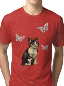 Kitty Love, so bad it's retro good! Tri-blend T-Shirt