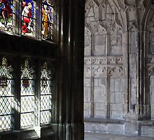 Inside Gloucester Cathedral by Jeff  Wilson