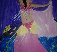 Belly Dancer in Pink by Alison Pearce