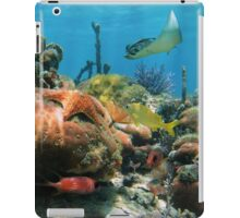 Coral reef with colorful tropical marine life iPad Case/Skin