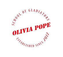 Olivia Pope - The School of Gladiators - Red Photographic Print
