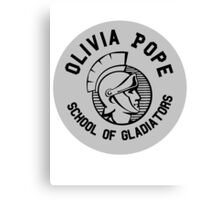 Olivia Pope - School of Gladiators Canvas Print
