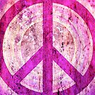 Peace Sign - Grunge Texture with Scratches by Denis Marsili - DDTK