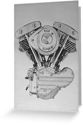 S&S Shovelhead Engine by Scott Ritchie