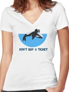 Don't Buy A Ticket Women's Fitted V-Neck T-Shirt