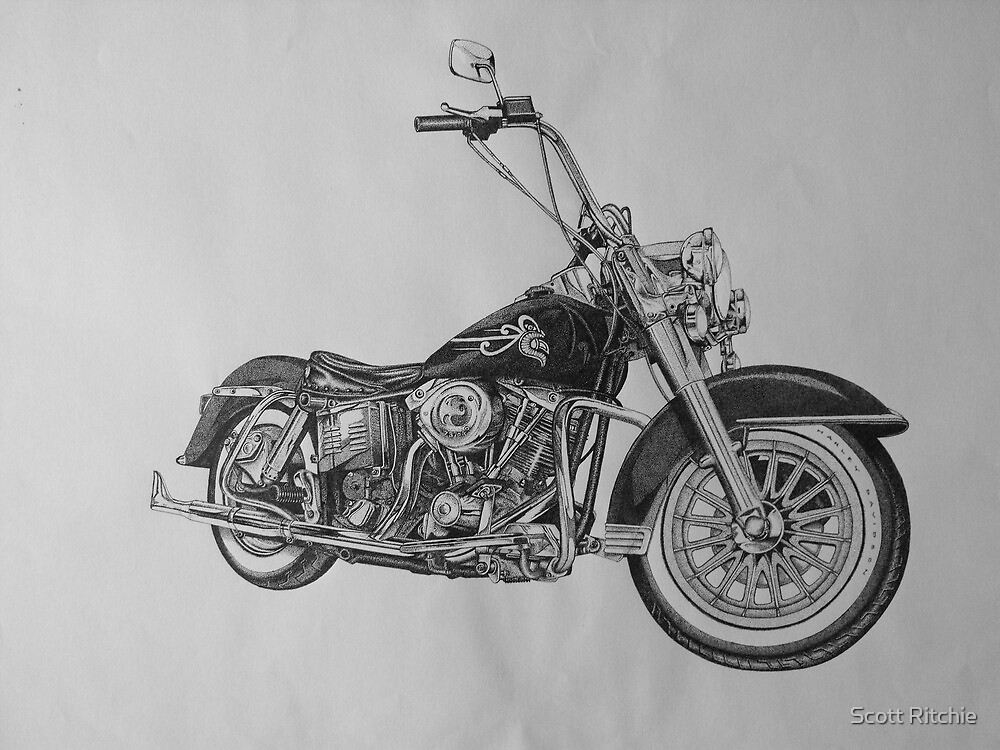 1982 FLH Harley Davidson by Scott Ritchie