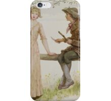 Kate Greenaway Collection 1905 0495 Two at a Stile iPhone Case/Skin