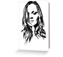 Christina Ricci Greeting Card