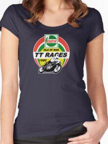 Castrol TT Races Women's Fitted Scoop T-Shirt