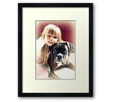 My Best Friend - Colour Version Framed Print