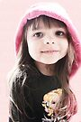 Little Girl In Pink Hood by Evita