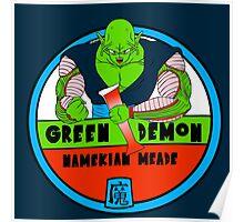 Green Demon Namekian Meade Poster