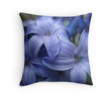 Clouded Violet Hyacinth Throw Pillow