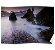 The old jetty at St Abbs Poster
