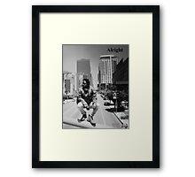Kendrick Lamar - Alright (Music Video) LA Picture Framed Print