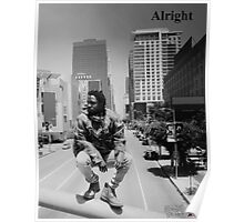 Kendrick Lamar - Alright (Music Video) LA Picture Poster
