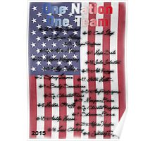 One Nation, One Team USWNT Poster