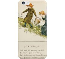 The April Baby's Book of Tunes by Elizabeth art Kate Greenaway 1900 0085 Jack and Jill iPhone Case/Skin