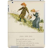 The April Baby's Book of Tunes by Elizabeth art Kate Greenaway 1900 0085 Jack and Jill iPad Case/Skin