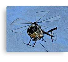 ONE OF THE HUGHES 500 HELICOPTERS Canvas Print