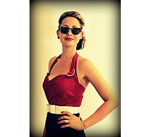Pin Up Girl Photographic Print