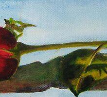 Red Rosebud by Estelle O'Brien