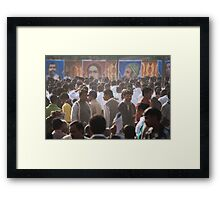 Fragments of Richness: An Indian Expose - a sea of faces Framed Print