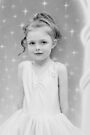 Birthday Girl ~ Portrait In Black And White by Evita