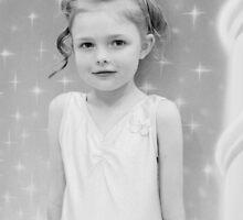 Birthday Girl ~ Portrait In Black And White by Evita