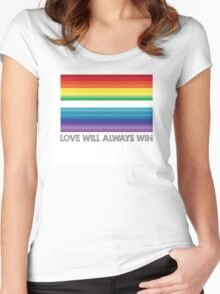 LOVE WILL ALWAYS WIN - EQUALITY Women's Fitted Scoop T-Shirt