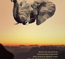 Low-poly Elephant and D. H. Lawrence Quote by Bradley L'Herrou